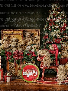 Beary Christmas 2 - 60x80 Fleece (Vertical Design)