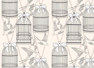 Bird Cage 5 (Horizontal Design)
