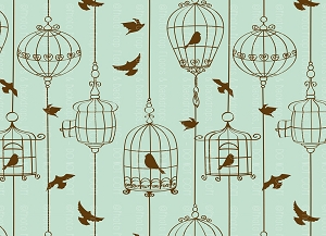 Bird Cage 6 (Horizontal Design)