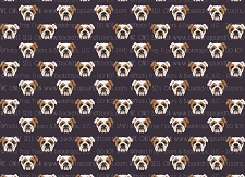 Bulldog Print 10 (Horizontal Design)