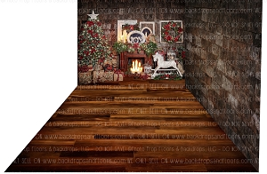 Candlelight Christmas 1 (Backdrop: 8x10 Polyester) Dark Walnut 3 (Floor: 8x10 Non-Skid Floormat) Shingle 3 (Right Wall: 8x8 Polyester)