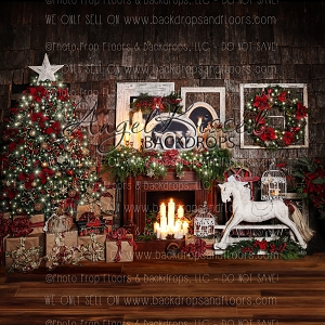 Candle Light Christmas - 10x10 Polyester
