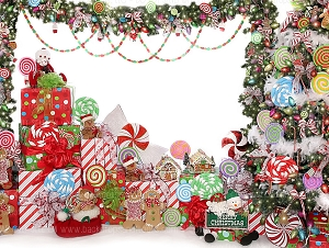 Candy Tree Christmas 2 - 60x80 Fleece (Horizontal Design)