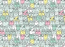 Cat Print 2 (Horizontal Design)