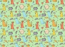 Cat Print 5 (Horizontal Design)