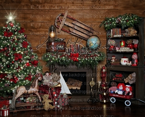 Christmas at Santa's 8x10 Polyester (Horizontal Design)