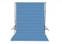 Denim Blue Solid Color Seamless Matte Finish Fabric Photography Backdrop