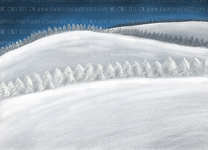 Painterly Winter Hills (Horizontal Design)