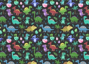 Dinosaurs 14 (Horizontal Design)