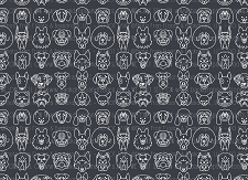 Dog Print 2 (Horizontal Design)