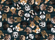 Dog Print 6 (Horizontal Design)