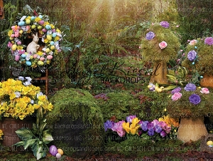 Enchanted Spring Forest 1 - 80x60 (Horizontal Design)