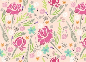 Floral 376 (Horizontal Design)