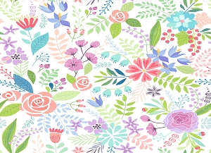 Floral 377 (Horizontal Design)