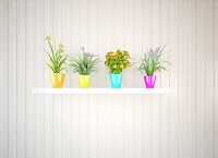 Flower Pots 7 (Horizontal Design)