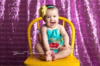 Fuchsia Sequin Fabric Photography Backdrop