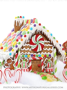 Gingerbread Love 2 - 60x80 Fleece (Vertical Design)