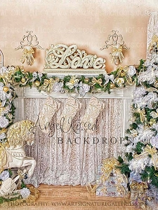 Golden Christmas Memories - 60x80 Fleece (Vertical Design)