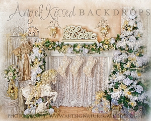 Golden Christmas Memories - 8x10 Polyester (Horizontal Design)