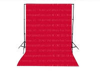 Holiday Red Solid Color Seamless Matte Finish Fabric Photography Backdrop