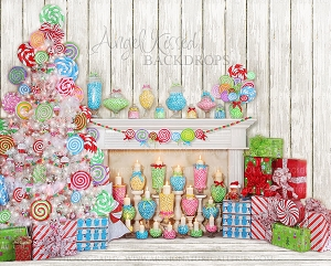 It's a Lolly Jolly Christmas - 8x10 Polyester (Horizontal Design)