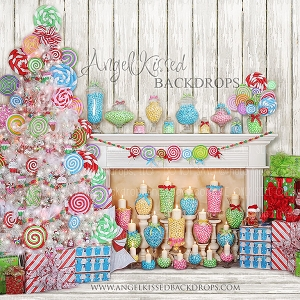 It's a Lolly Jolly Christmas - 8x8 Polyester