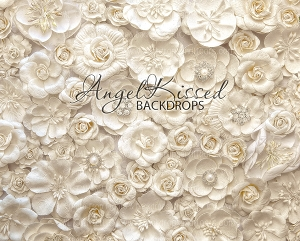 Ivory Flowers - 8x10 (Horizontal Design)