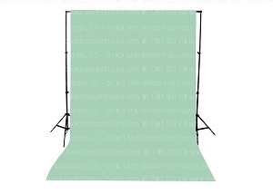 Mint Solid Color Seamless Matte Finish Fabric Photography Backdrop