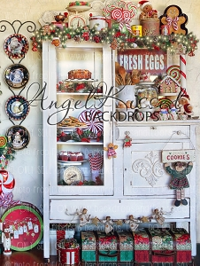 Mrs Claus Kitchen 3 - 60x80 Fleece (Vertical Design)