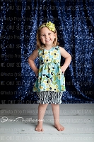 Navy Blue Shimmery Sequin Fabric Photography Backdrop