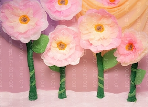 Paper Flowers 60 (Horizontal Design)