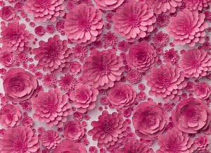 Paper Flowers 66 (Horizontal Design)