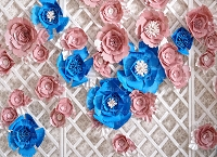 Paper Flowers 73 (Horizontal Design)