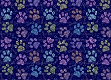 Paw Prints 3 (Horizontal Design)