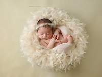 (TP) Plush Feather Baby Wreath