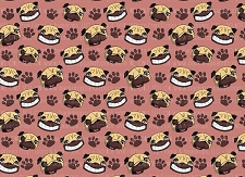 Pug Print 1 (Horizontal Design)