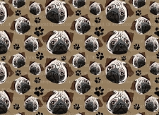 Pug Print 5 (Horizontal Design)