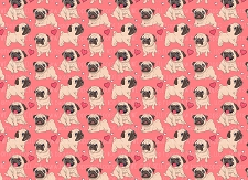 Pug Print 6 (Horizontal Design)