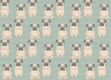 Pug Print 7 (Horizontal Design)