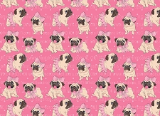Pug Print 8 (Horizontal Design)