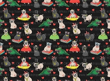 Pug Print 9 (Horizontal Design)