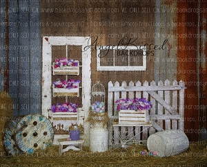 Purple Barn - 8x10 Polyester (Horizontal Design)