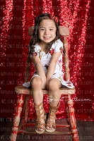 Ruby Red Sequin Fabric Photography Backdrop