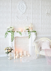Shabby Fireplace 7 (Horizontal Design)