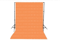 Tangerine Solid Color Seamless Matte Finish Fabric Photography Backdrop