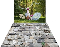 Vintage Garden Party (drop) & Stone Wall 12 (floor) Combo