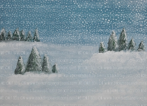 Painterly Winter 1 (Horizontal Design)