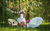 Vintage Garden Party 1 (Horizontal Design)