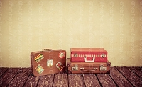 Vintage Suitcases 4 (Horizontal Design)
