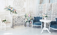 Shabby Fireplace 4 (Horizontal Design)